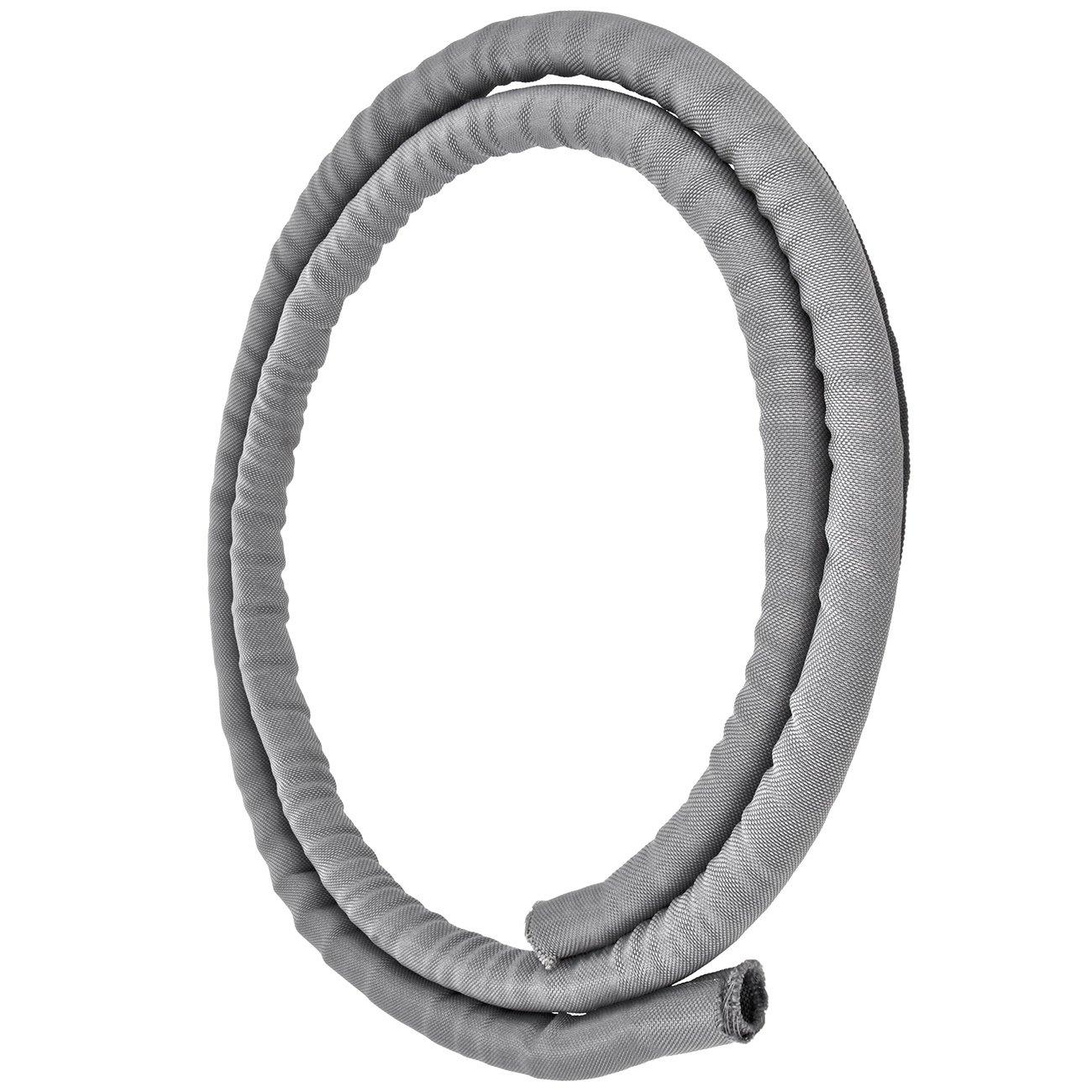 Minadax/® 1 Meter 13mm /Ø Selbstschlie/ßender Profi Kabelschlauch Kabelkanal in grau f/ür flexibles Kabelmanagement