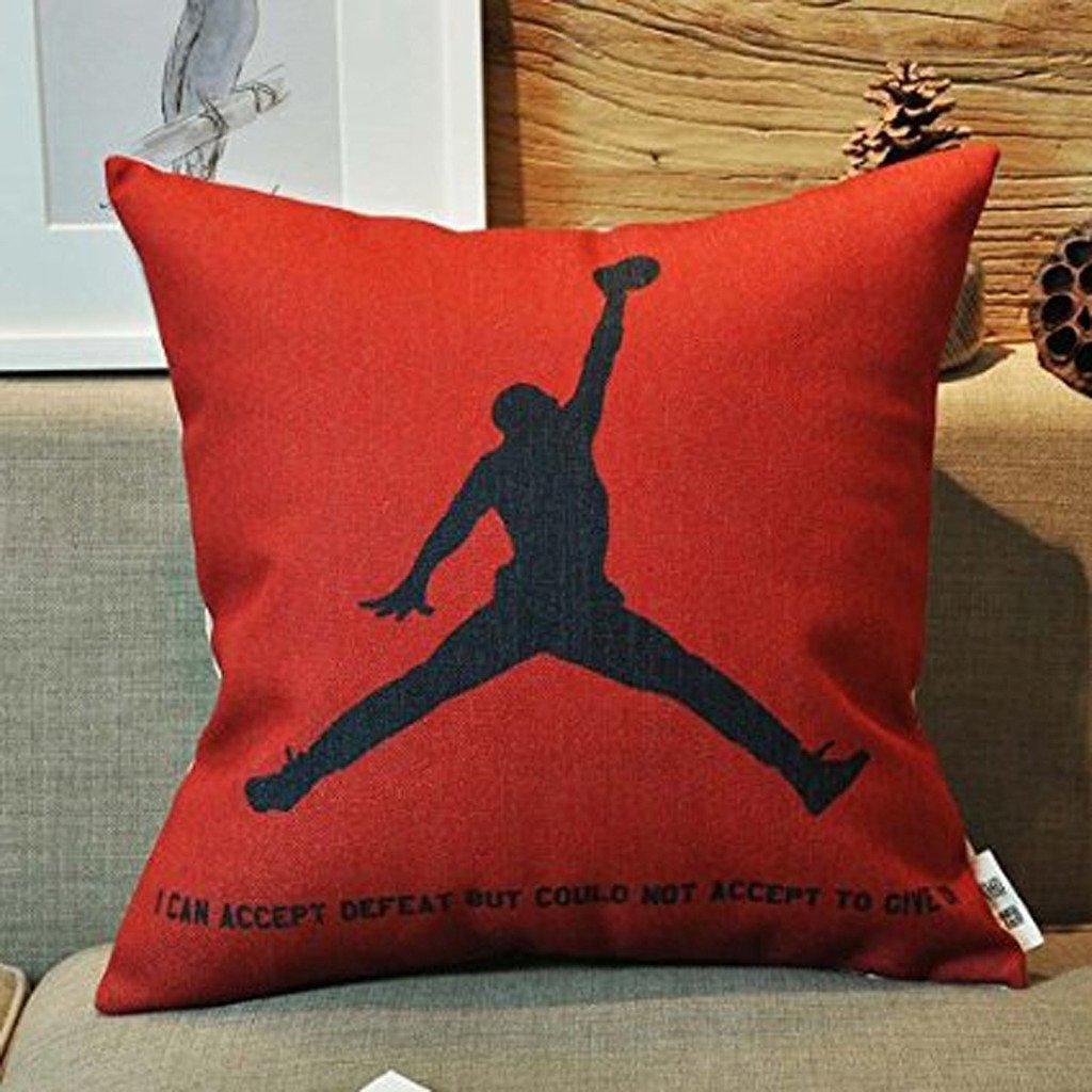 Kenneth Fall Michael Jordan Custom Kissen Basketball Fans Überwurf Kissen Fällen 45, 7x 45, 7cm (eine Seite) 7x 45 7cm (eine Seite) DreamStage 18X18 Inch