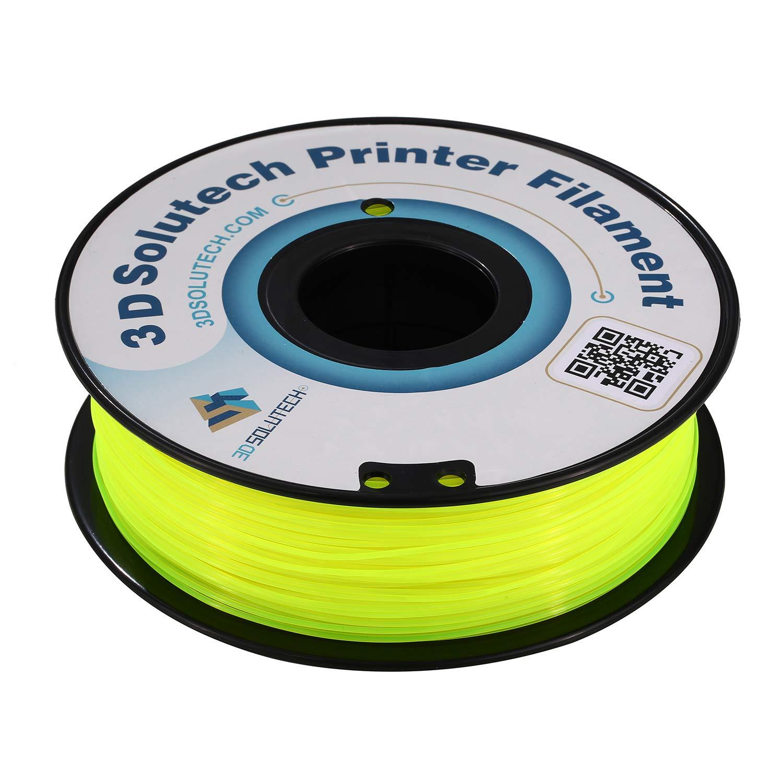 - 100/% USA 2.2 LBS 3D Solutech See Through Yellow 3D Printer PLA Filament 1.75MM Filament Dimensional Accuracy +//- 0.03 mm 1.0KG
