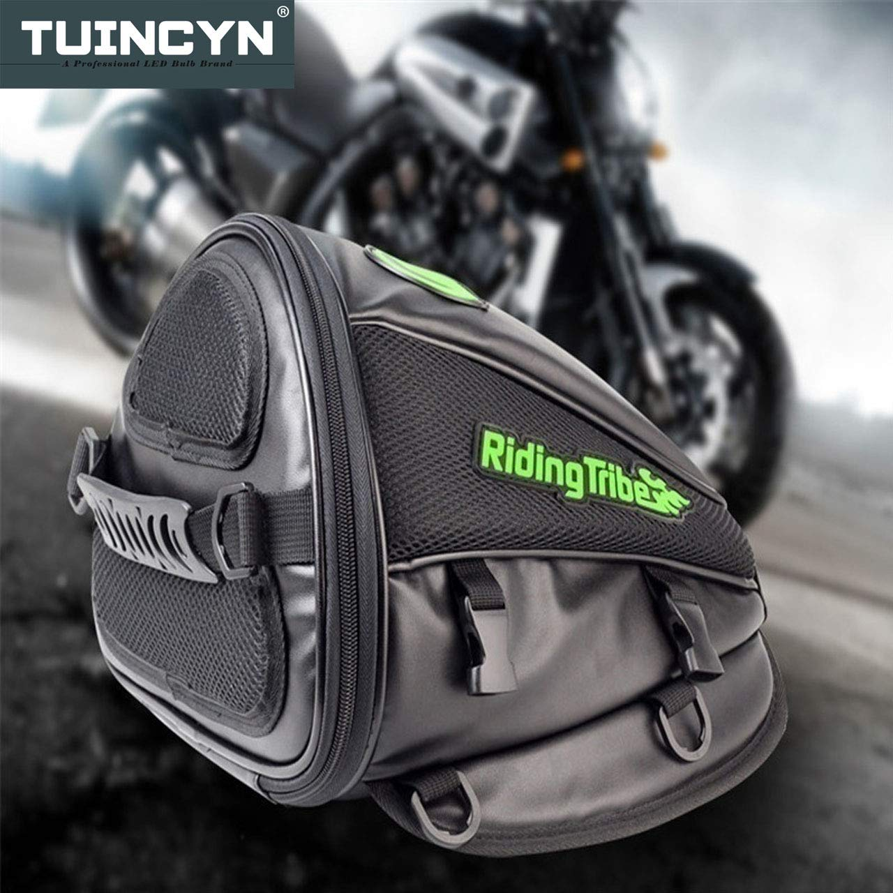 TUINCYN Motorcycle Backrest Saddle Storage Bag Multifunctional Large Capacity Waterproof PU Leather Tank Bag Motorbike Rear Seat Light Tail Bag.