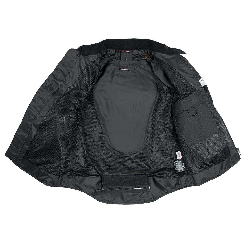 Giacca Moto estiva Tessuto Rete Mesh Traspirante Protezioni CE Cordura Nero XL