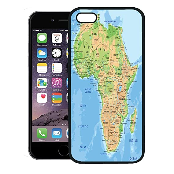 Africa Physical Map Madagascar.Amazon Com Emvency Phone Case For Iphone 8 Plus Case Cover