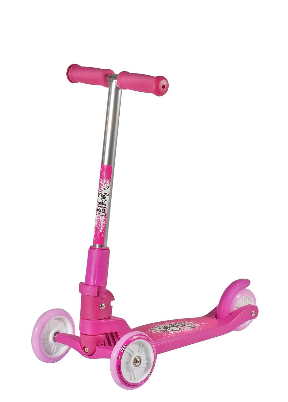 Hudora 11050 - Patinete plegable de 3 ruedas, color rosa ...