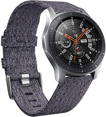 Olytop Compatible Galaxy Watch 46mm Bands/Gear S3 Bands - 22mm Quick Release Premium Woven Nylon Sports Strap Wrist Band for Galaxy Watch 46mm & Gear ...