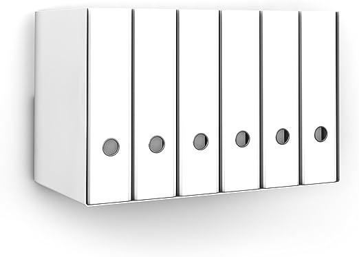 home3000 Ordnerregal Bürorregal aus Metall in Weiss für bis