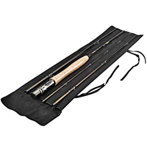 PLUSINNO Lightweight Ultra Portable Fly Fishing Rod and Reel Graphite Pole