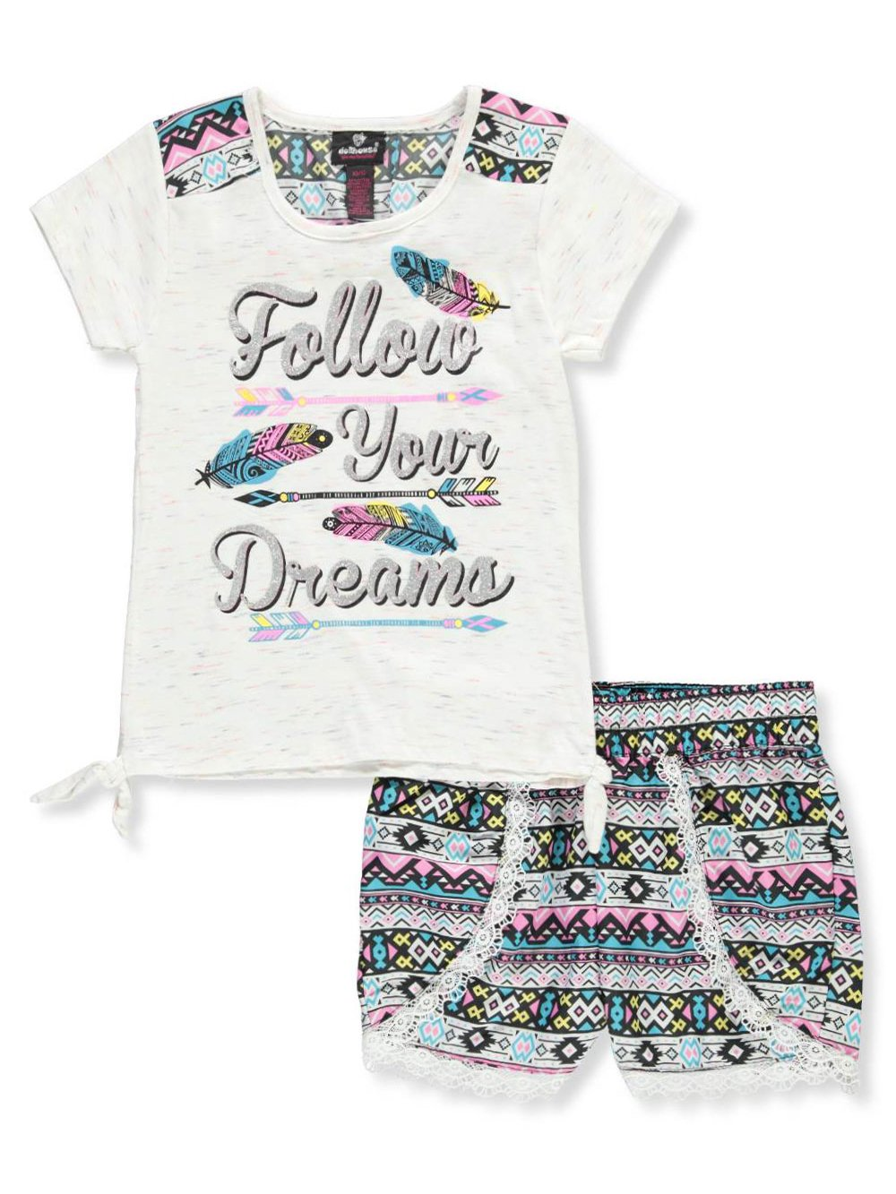 dollhouse Girls' 2-Piece Short Set Outfit 4