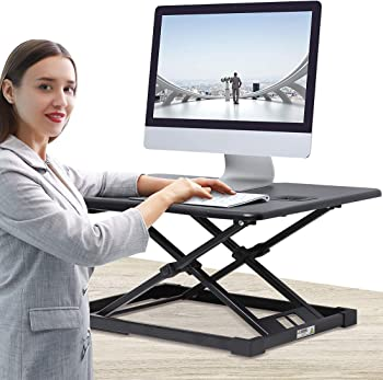 Jenoswein Standing Desk Converter with Height Adjustable Sit