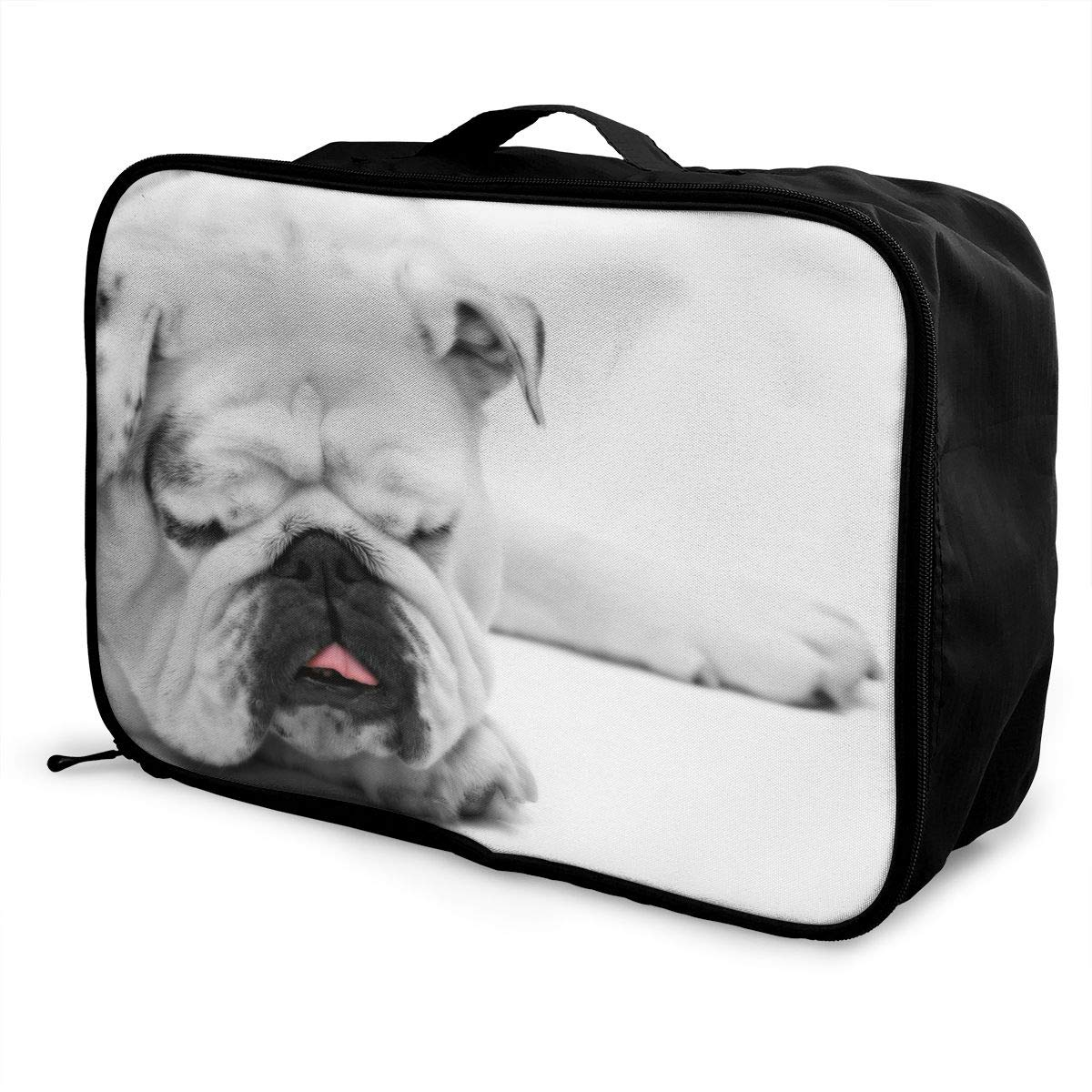 Travel Luggage Duffle Bag Lightweight Portable Handbag Cute Dog Print Large Capacity Waterproof Foldable Storage Tote