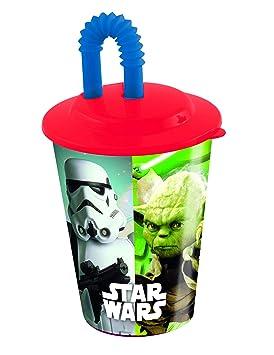 COOLMP - Juego de 3 Vasos con Pajita de plástico Star Wars ...
