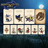 9 PCS Monster Hunter Rise NFC Mini Cards with Crystal case, Palamute Palico Magnamalo Compatible Switch/Switch Lite
