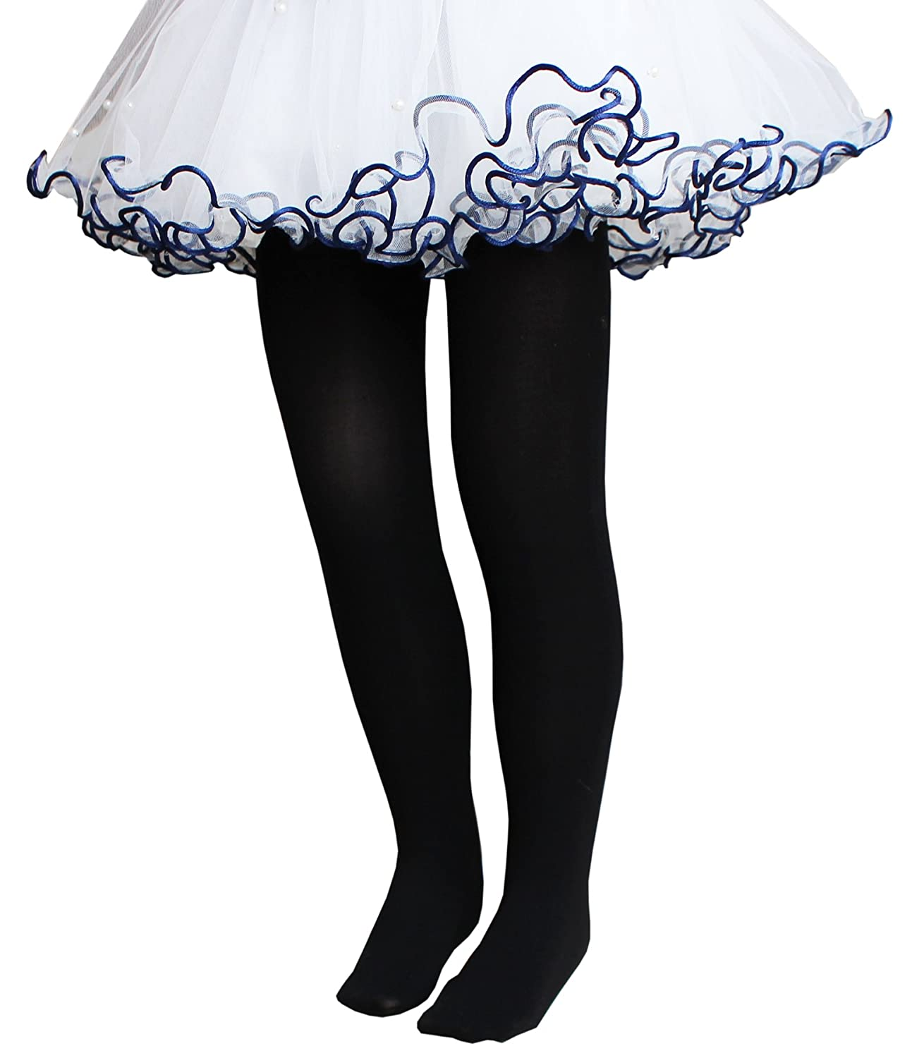 CHUNG Toddler Little Big Girls Footed Dance Tights Ballet Class School Outfits Stretchy 3-14Y