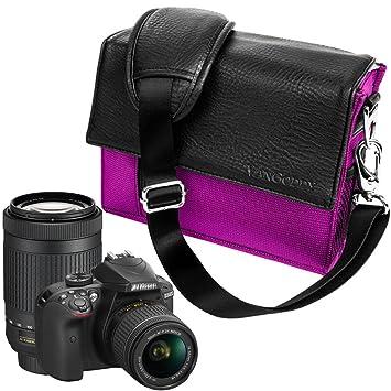 Tamaño mediano cámara bolsa caso para Nikon, Canon, Sony, Pentax ...