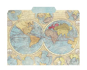 Punch Studio World Atlas Map Decorative File Folders Set of 10 on map button, map pen, map frame, map clock, map component, map layout, map brochure, map worksheet, map files, map data, map template, map bag, map graph,