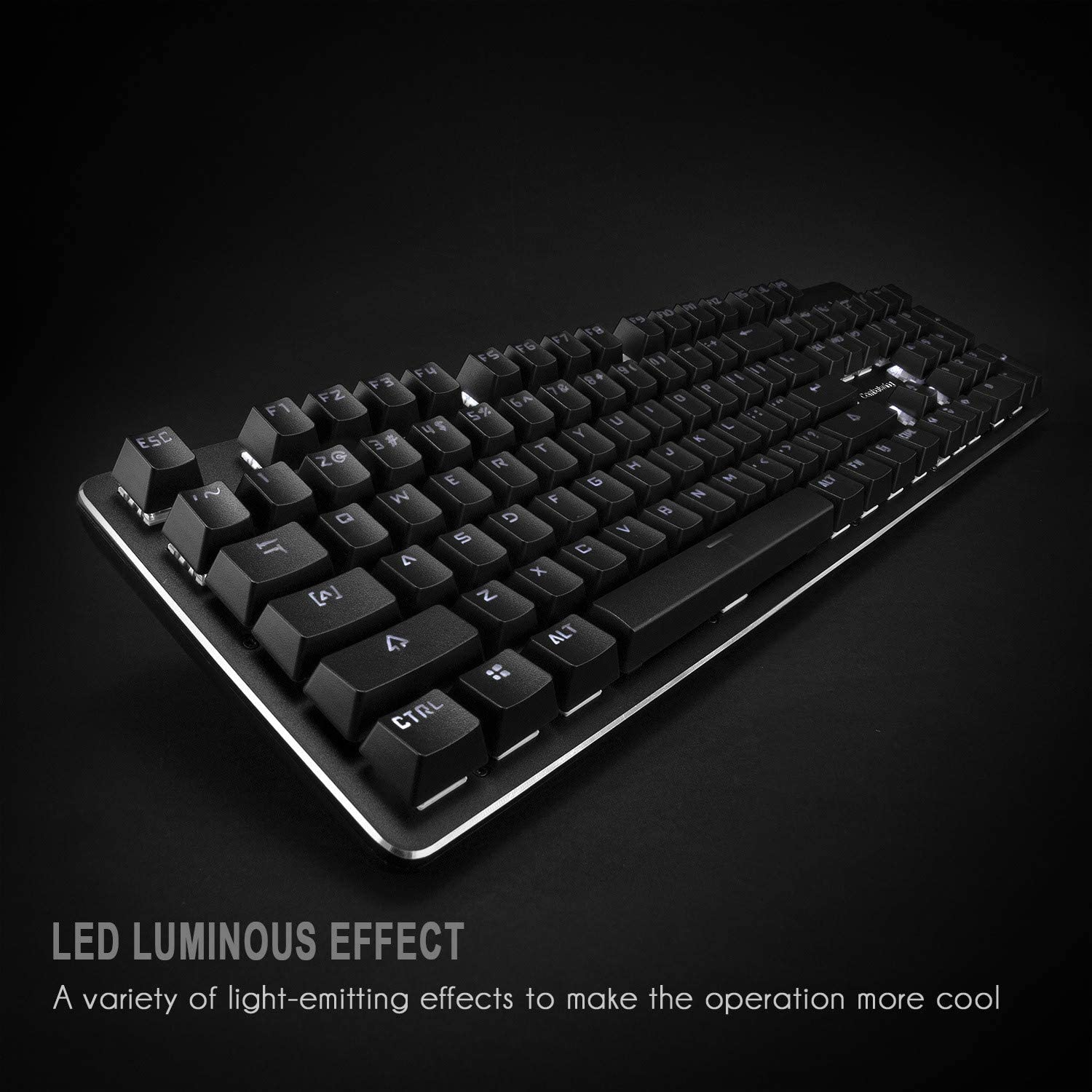 XIAZI Mechanical Keyboard Green Axis 104 Key No Punch Wired Computer Backlit Gaming