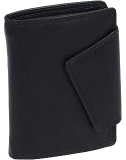 7be89939b469e0 LEAS Damenbörse im Hochformat Echt-Leder, schwarz Ladies-Collection''