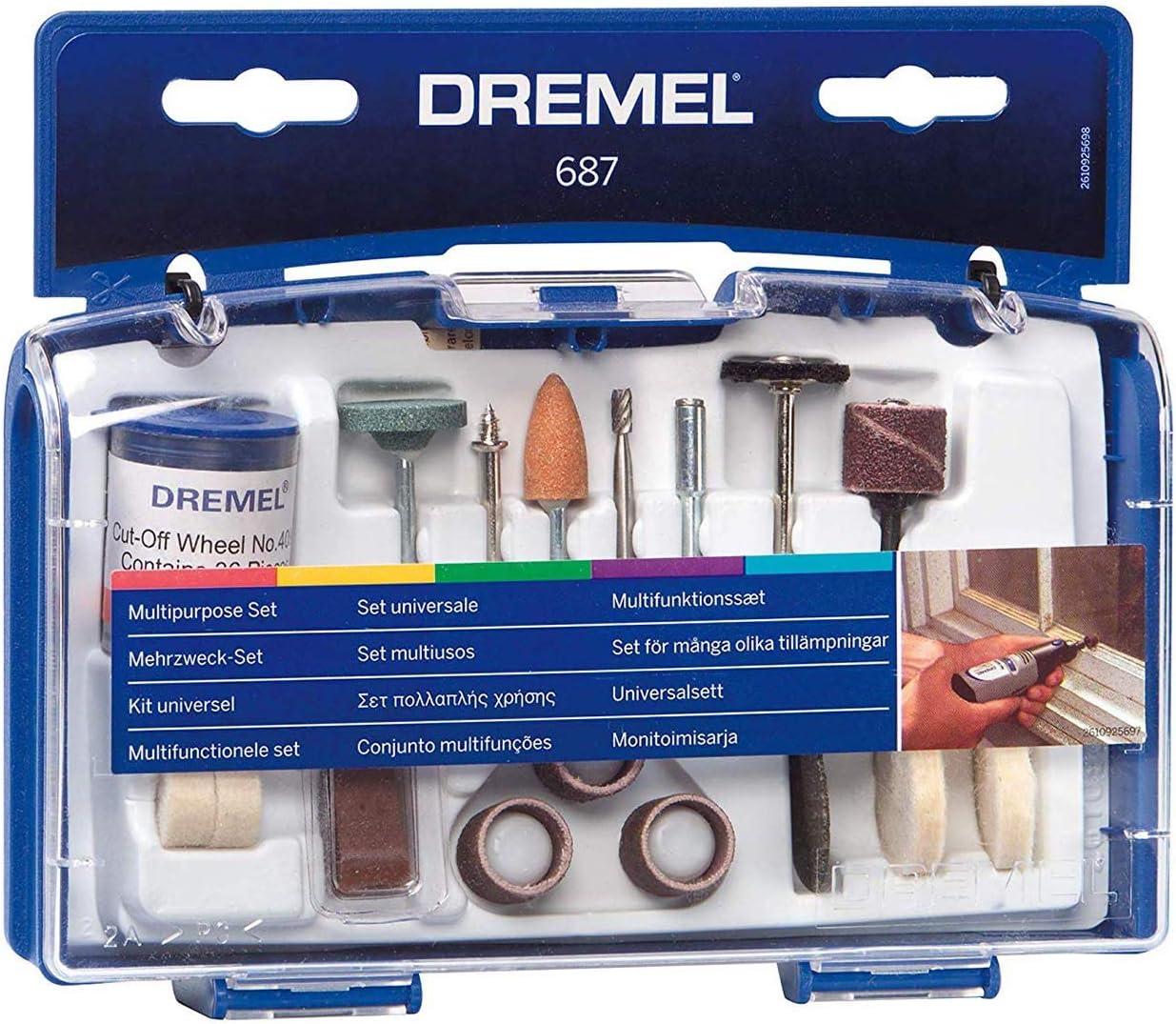 Pack of 1 Silver Dremel 687-01 52PC GP Set