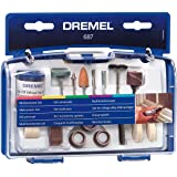 Dremel 687-01 52-Piece All-Purpose Rotary Tool Accessory Kit- Includes a Carving Bit, Sanding Drums, Grinding Stones, Cutting
