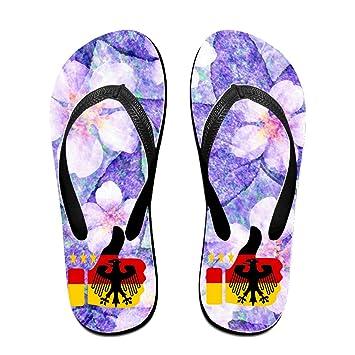 Euro Germany 2016 Great Unisex Hardwearing Beach Flip-flops Thong Sandals Size S Black