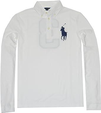 Polo Ralph Lauren Men's Big Pony Long Sleeve Polo Shirt (Small ...