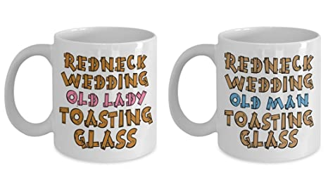 Amazon Redneck Wedding His And Her Toasting Mugs Redneck