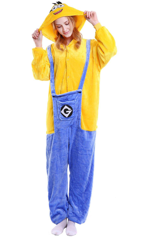 Dolamen Adulto Unisexo Onesies Kigurumi Pijamas, Mujer Hombres Traje Disfraz Animal Pyjamas, Ropa de Dormir Halloween Cosplay Navidad Animales de ...