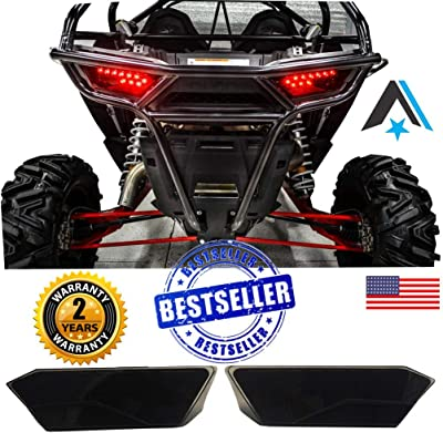 #1 Polaris RZR Smoked LED Tail Lights by Arsenal Rear Tail Lamp Replacement for POLARIS 2014-2020 RZR 1000 900 XP 4 TURBO (1 Pair) Best on the Market!: Automotive