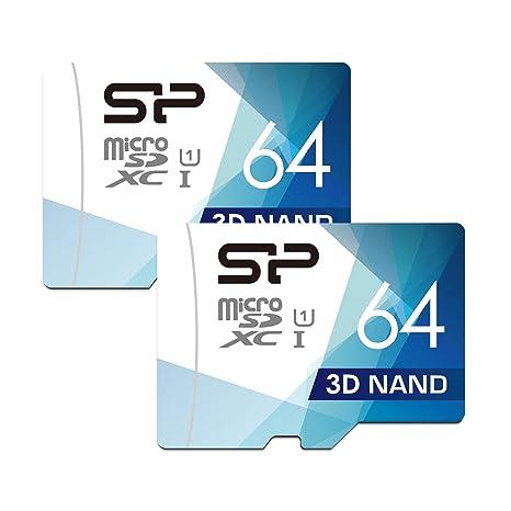 Silicon Power - Tarjeta microSD con Adaptador (64 GB, Alta ...