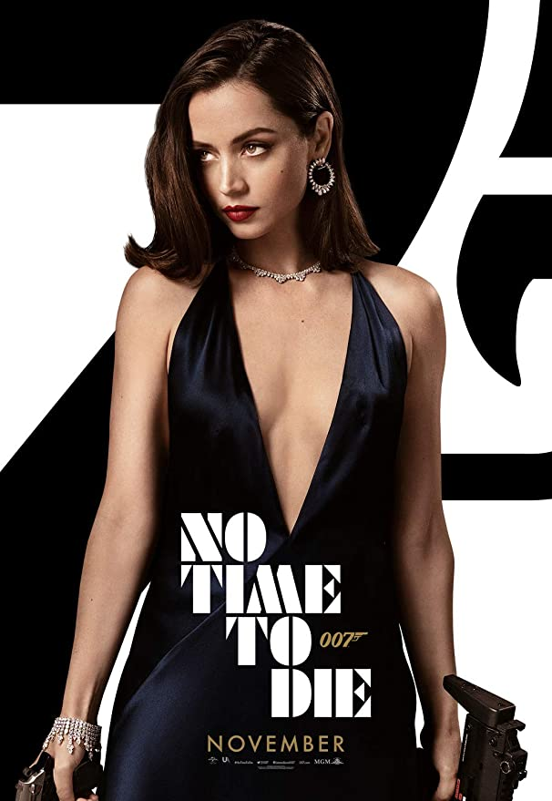 E244 Ana de Armas 007 Movie No Time to Die 2020 Poster Fabric Art 40 48x32