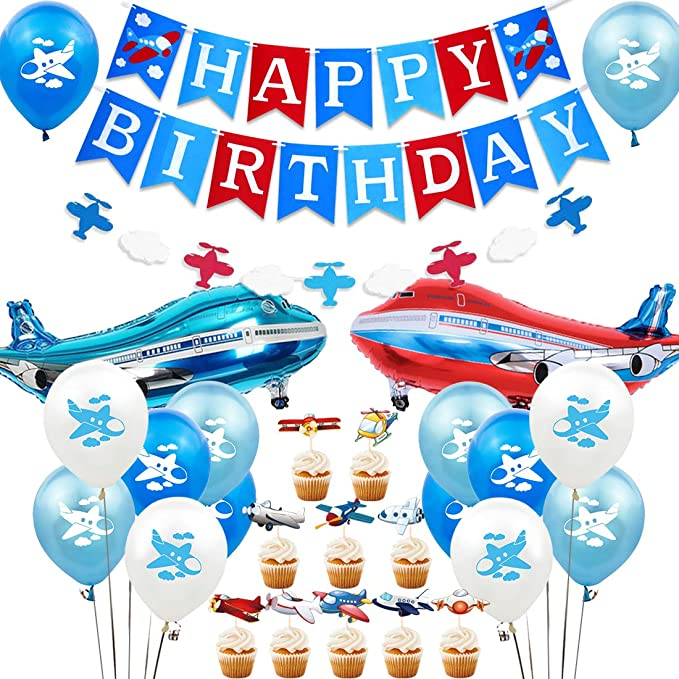 Time Flies Airplane Confetti Plane Party Decorations 100 Pieces Airplane Birthday Table Confetti.