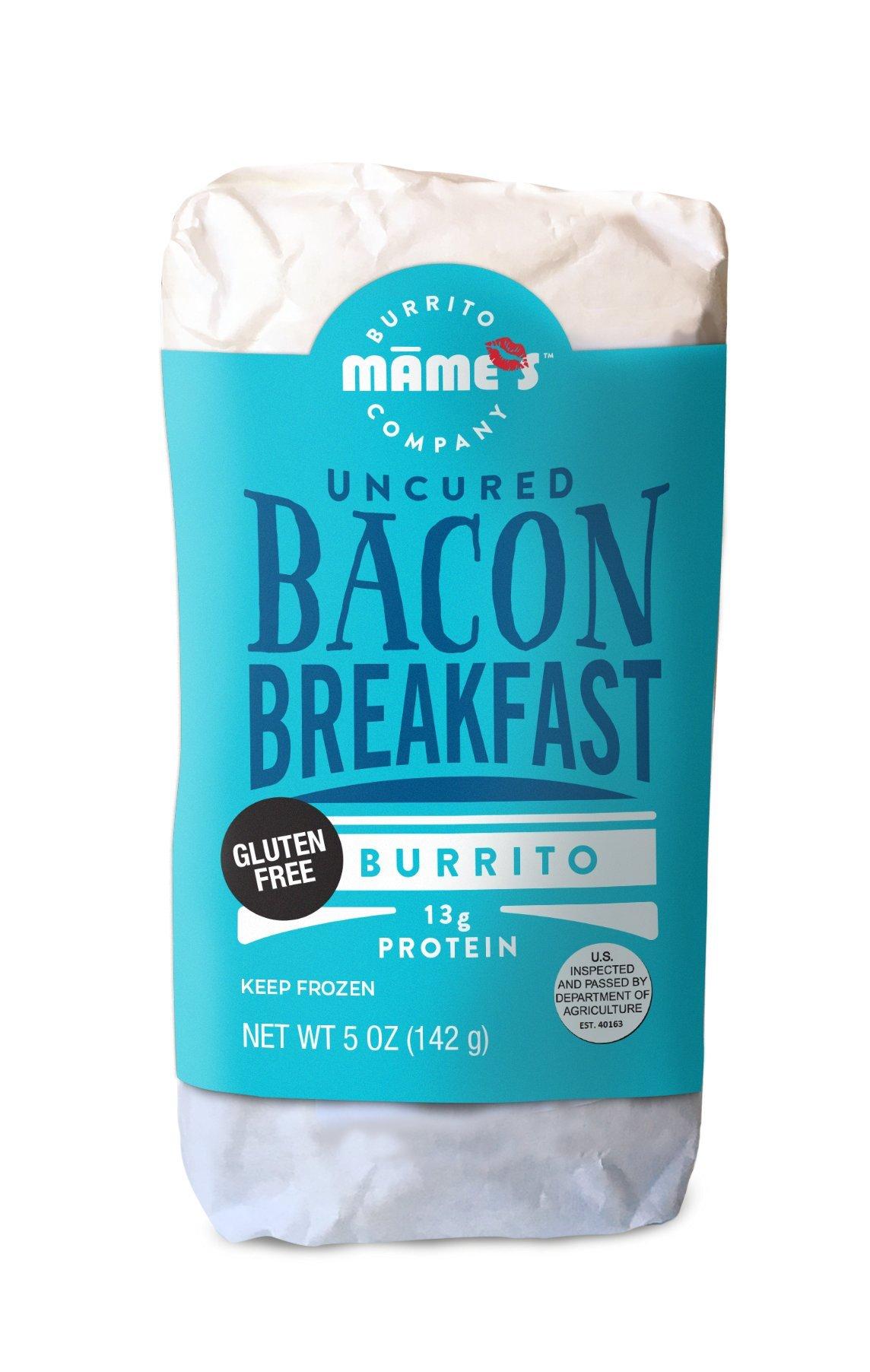 Mame's Burrito Company Gluten Free Uncured Bacon Breakfast Burrito, 7 Ounce (Pack of 12) by Mame's Burrito Company