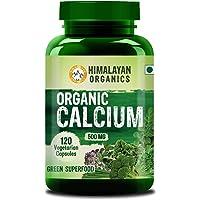 Himalayan Organics Organic Calcium Complex - Best Whole Food Supplement for Bone Health - 120 Vegetarian Capsules