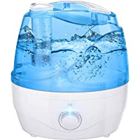 Cool Mist Humidifier, 2.2L Humidifiers for Bedroom with Large Water Tank, Independent Power Adapter, 28dB Quiet, 24H…