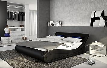 Designer Leder Bett Bellini Bellugia 140x200 Oder 180x200 Cm
