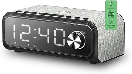 Energy Sistem Clock Speaker 4 Wireless Charge (Dual Alarm, 10 W ...