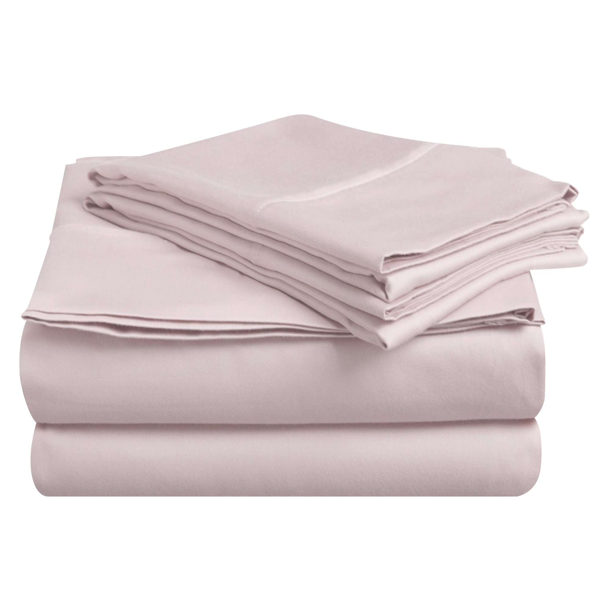 Superior 100% Premium Combed Cotton, Deep-Fitting Pocket Soft and Smooth 4 Piece Sheet and Pillowcase Cover Set, California King - Lilac