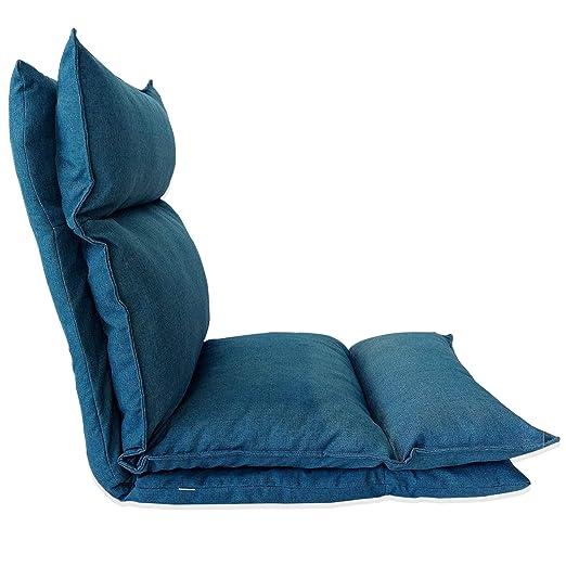 Rebecca Mobili Tumbona de Relax Futon Silla Yoga Blu Jeans ...