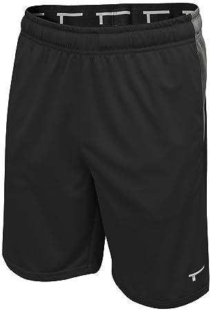 neue auswahl bieten eine große Auswahl an sehen TREN Herren COOL Performance Panel Polyester Short Sporthose mit  Seitentaschen