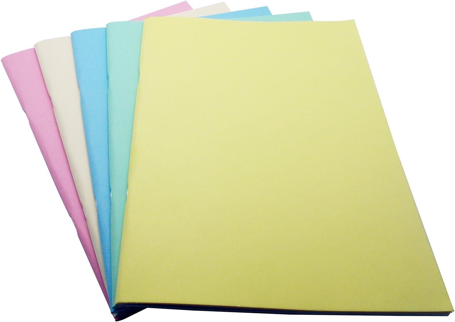 West 334453 A5 cuaderno de dibujo – colores pastel surtidos (Pack de 5): Amazon.es: Oficina y papelería