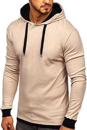 BOLF Mens Zip Hoodie Sweatshirt Outdoor Sport Style Mix 1A1