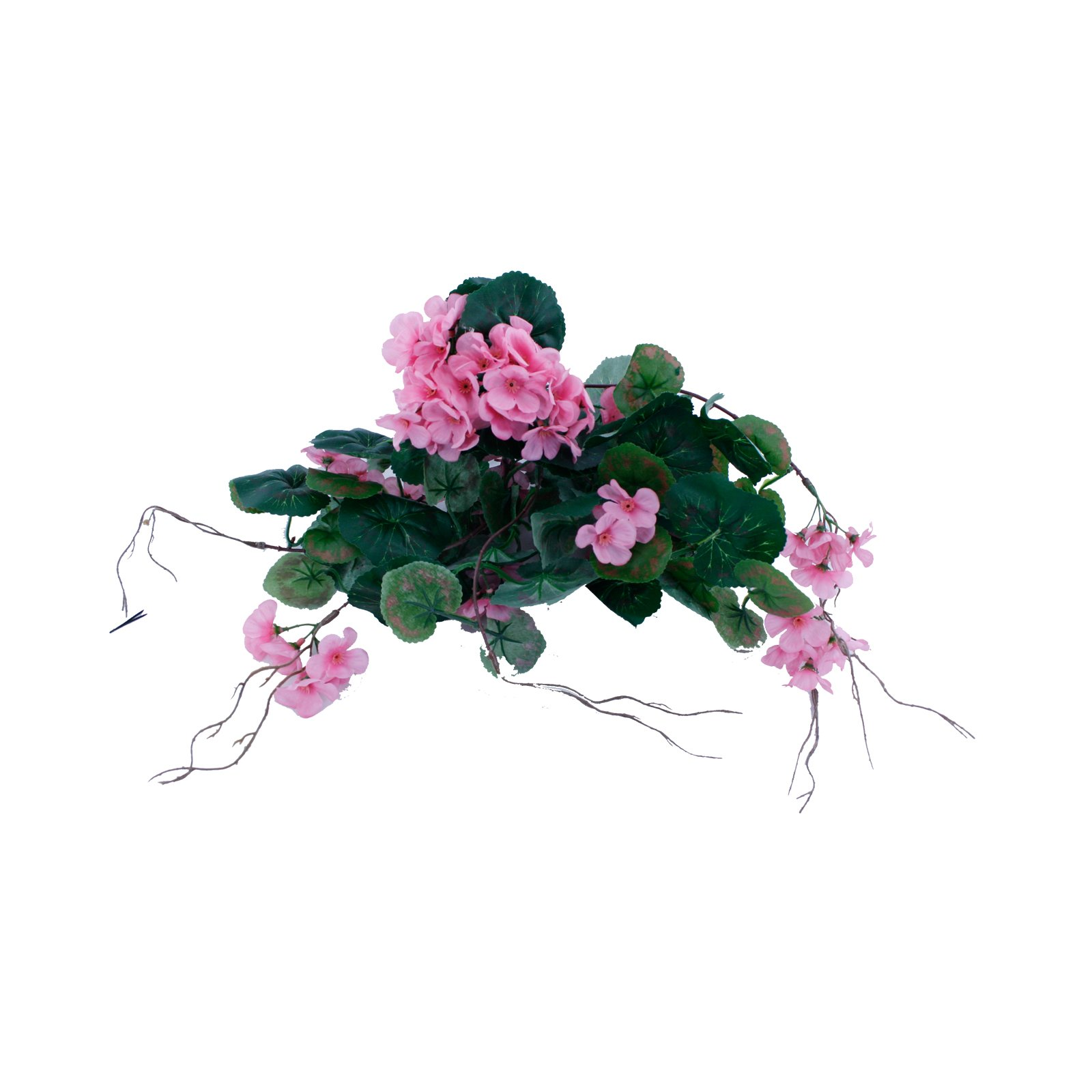FloristryWarehouse Artificial Silk Trailing Geranium Light Pink 16.5 inches Hanging Basket Window Box Flowers