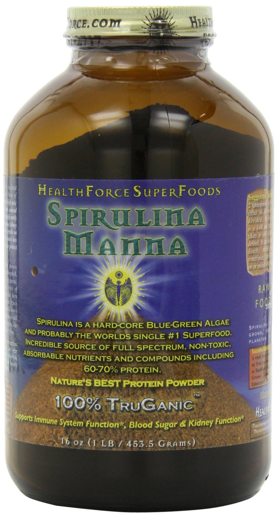 HealthForce SuperFoods Spirulina Manna 16 Ounces Powder