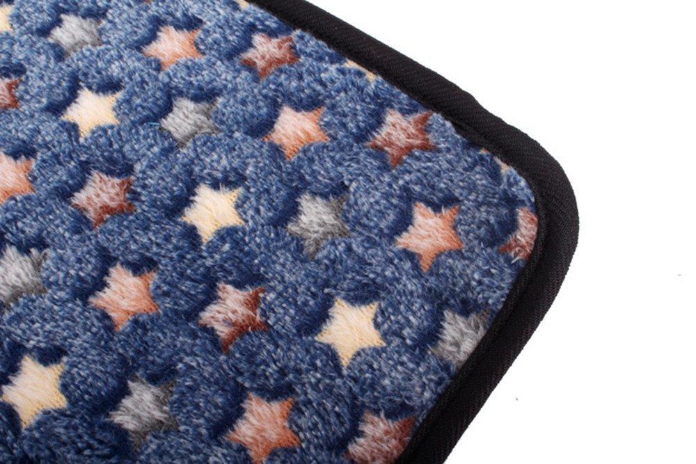 OHlive Confortevole Tappetino in Cotone per Animali Animali Animali Domestici Tappeto per tappeti per Animali Domestici a duplice Uso Cuscino in bambù per L'Estate e l'inverno (XL, Blu Scuro) c6b8f7