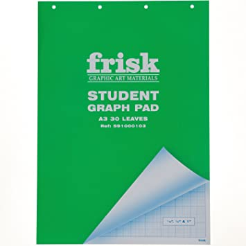 amazon co jp frisk student graph pad a3 30 leaves green cover