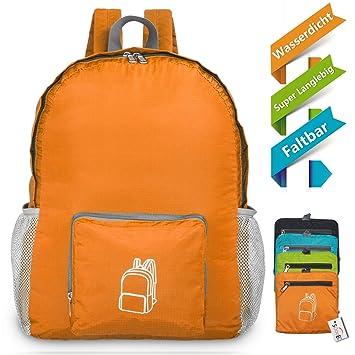 Kauf echt populäres Design jetzt kaufen 22L Wasserdichter Ultraleicht Rucksack,Faltbarer Rucksack für Outdoor  Wandern Camping Reisen Trekking Nylon kleiner wanderrucksack