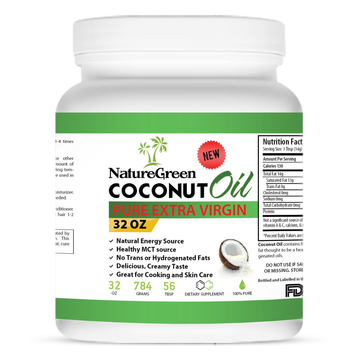 Amazon.com : Coconut Oil-Raw PURE EXTRA VIRGIN COCONUT OIL -Weight Loss  Benefits-Best for Cooking Tasty weight Loss Diet Recipes-Perfectly Natural  Uses For ...