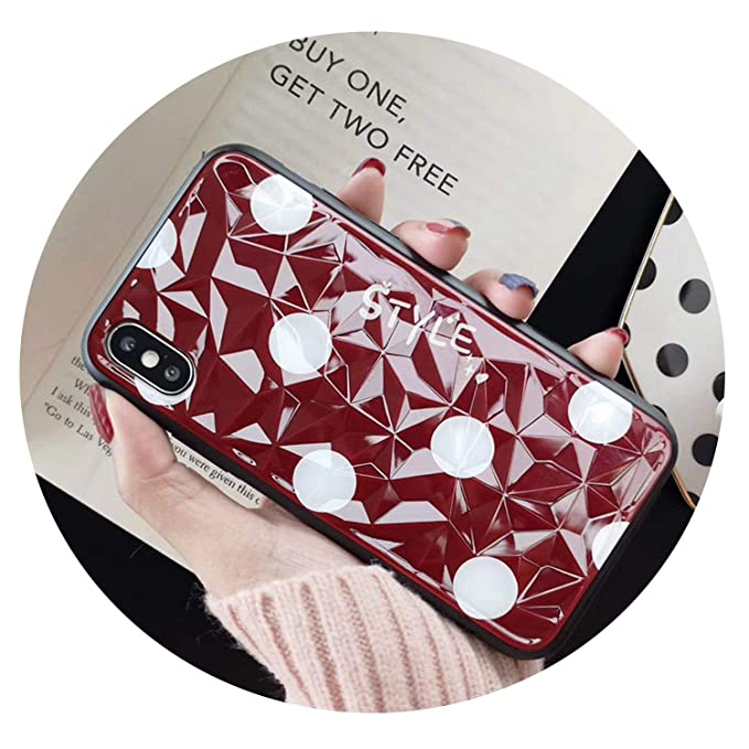Amazon.com: Fashion for iPhone 7 3D Diamond Grain Crystal ...