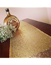 """TRLYC 12""""*108"""" Beautiful Gold Party Fabric Sequin Table Runner For Wedding And Event"""