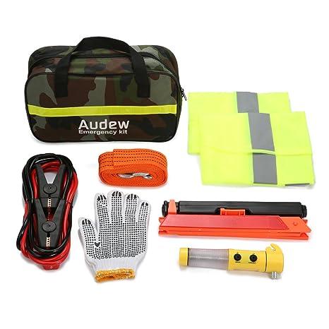 Amazon Com Audew Car Emergency Kit Roadside Assistance Kit Car
