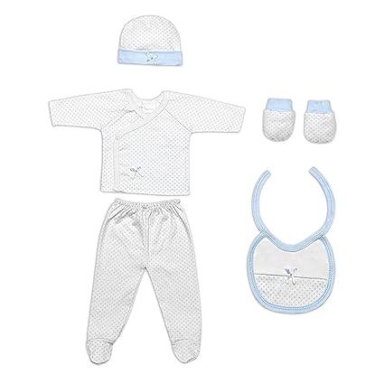Set Primera Puesta 5 Piezas Azul - Regalos Bebés MINDOO